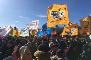 В Петербурге прошел митинг за честные выборы. На акцию можно было попасть только через рамки металлодетектора