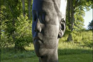 Во дворе Эрмитажа установят семиметровую скульптуру женской головы