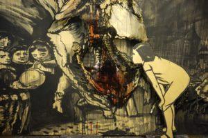 Инсталляцию для российского павильона Венецианской биеннале готовят в Музее стрит-арта. «Бумага» показывает части работы