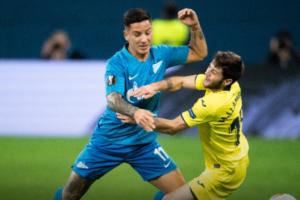 «Зенит» проиграл «Вильярреалу» в первом матче 1/8 финала Лиги Европы