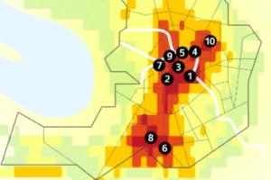 «Яндекс» оценил, в каких районах Петербурга самый грязный воздух и сравнил экологию города с Москвой