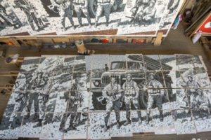 На «Авито» выставили на продажу панно в честь героев Афганистана, которым должны были украсить станцию метро «Проспект Славы»