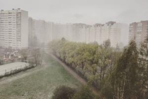 «А можно нам нормальную весну?»: как в Петербурге 3 мая пошел мокрый снег — в фото и видео