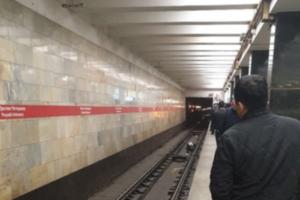 Движение по красной линии петербургского метро приостанавливали из-за упавшего на рельсы мужчины