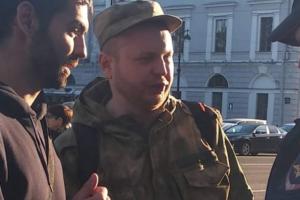 В центре Петербурга на участников пикетов в поддержку украинских политзаключенных напали неизвестные. Протокол составили на пикетчика, распылившего в ответ перцовый газ