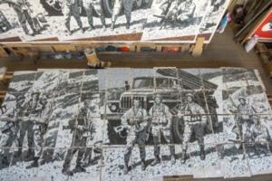 Панно в честь героев Афганистана все-таки установят на станции метро «Проспект Славы». Ранее его выставили на продажу на «Авито»