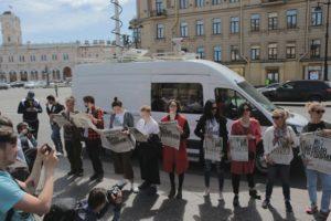 Как в Петербурге прошла акция в поддержку Голунова и против сфабрикованных дел. 14 фото пикетов и флешмоба