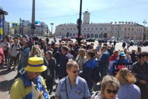В Петербурге прошла акция в поддержку Голунова и против сфабрикованных дел. Онлайн