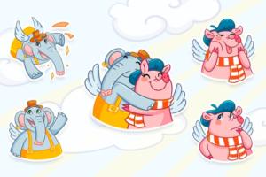 «ВКонтакте» начала продавать благотворительный стикерпак с рисунками летающих животных. Деньги пойдут в фонд AdVita