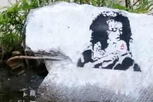 На Парнасе появился стрит-арт, посвященный Маргарите Тереховой. У советской актрисы болезнь Альцгеймера, ее семья собирает деньги на уход за ней