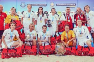 Женская сборная России по пляжному футболу победила на Кубке Европы. Большинство футболисток сборной играют в петербургском клубе