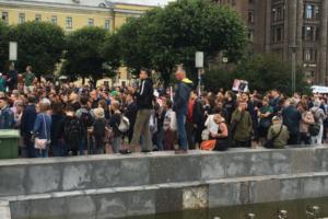 В Петербурге прошел митинг против произвола на выборах. Онлайн