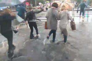 В Петербурге затопило улицы, дворы и торговые центры. Как город переживал ливень