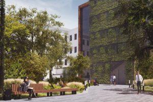 При расширении музея Достоевского в Кузнечном переулке пообещали построить сквер и сохранить зеленую зону. Вот как это должно выглядеть
