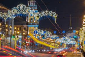 В новогоднюю ночь Невский проспект будет пешеходным. Есть и другие ограничения движения