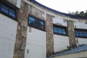 На улице Карбышева начали реставрировать фасады Круглой бани. Это памятник регионального значения