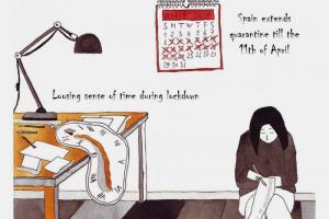 Художница, переехавшая из Петербурга в Барселону, создает «Хроники чумного периода». Это зарисовки из жизни в самоизоляции