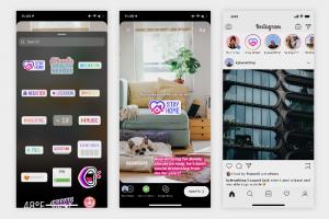В инстаграме появились стикеры «Оставайтесь дома» — с их помощью можно наблюдать за самоизоляцией друзей в Stories