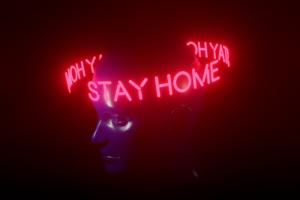 Работаете из дома? Примерьте инстаграм-маску STAY HOME — ее сделали «Бумага» и агентство Doing Great