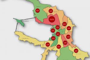 Сколько людей с подозрением на коронавирус лечатся дома в разных районах Петербурга? Появилась карта