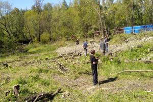 В Южно-Приморском парке начали вырубать деревья. Местные жители выступают против