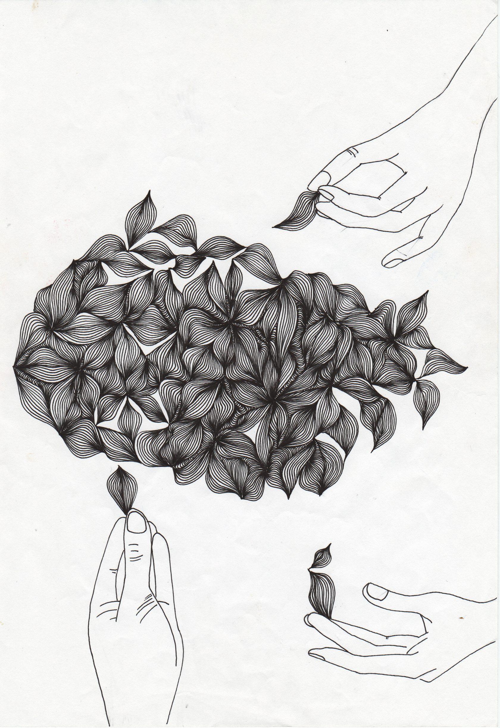Петербурженка выкладывает свои черно-белые рисунки и ...