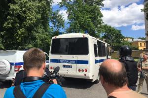 После оглашения приговора по делу «Сети» в Петербурге у здания суда задержали до 30 человек