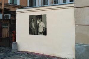 На улице Пестеля снова появился портрет Бродского — его закрасили в ту же ночь
