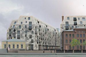 Что известно о строительстве ЖК на месте старинной фабрики на Карповке. Восьмиэтажное здание сравнивают с «саркофагом», работы будет вести неизвестный на рынке застройщик