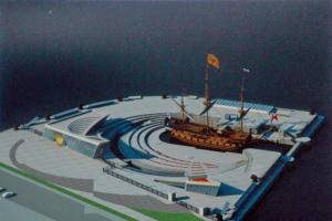 На набережной Финского залива начали строить культурно-исторический центр «Полтава». Его возведут на бывшем участке парка 300-летия