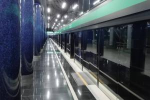 Станцию метро «Новокрестовская» планируют открыть в августе. Сейчас там завершают ремонт