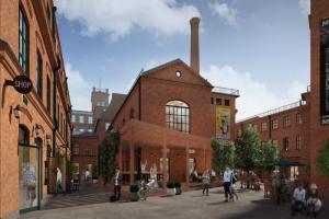 На территории бывшей фабрики «Скороход» в Петербурге планируют создать пешеходный лофт-квартал. Вот как он может выглядеть