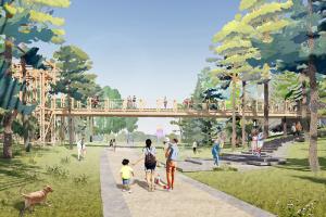 В парке «Тучков буян» хотят сделать оранжерею, плавучую сцену и набережную с амфитеатром. Расскажите нам, что думаете о проекте «Студии 44»