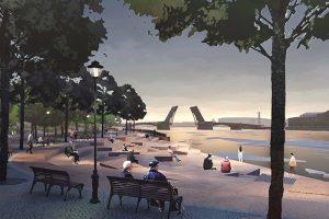 В парке «Тучков буян» хотят создать оранжерею, набережную с плавучей сценой и детские площадки. Что еще известно о концепции, победившей в конкурсе