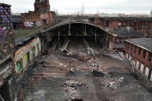 КГИОП назвал обрушение крыши корпуса завода «Красный треугольник» преступлением. Комитет требует провести противоаварийные работы
