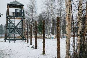 В Карелии открыли для детей копию концлагеря времен ВОВ. Там рассказывают о патриотизме и истории финской оккупации