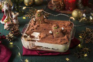 Сервис доставки продуктов с рецептами «Ужин дома» запустил новогоднее меню. Среди блюд — оливье, фаршированный осетр и тирамису с имбирными человечками