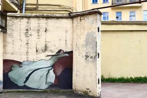Пиксель-арт, ромашки на телефонной будке и постеры с картинами из музеев. Вот инстаграм, в котором показывают новые работы уличных художников в Петербурге