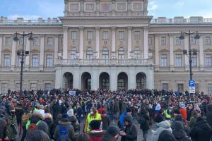 Митинг у Законодательного собрания Петербурга — одна фотография