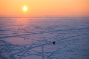 Сделайте паузу — посмотрите на медитативное фото заката над заснеженным Финским заливом