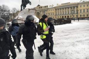 Петербургское управление МВД не усмотрело нарушений при задержаниях журналистов на январских акциях протеста