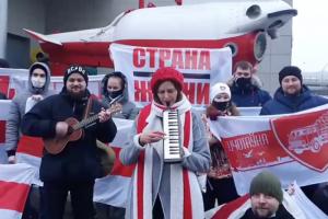В Петербурге снова задержали белорусскую активистку, ранее арестованную на 5 суток. Ее оставят на ночь в отделе полиции