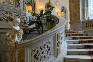В этот роскошный особняк можно попасть только с экскурсией. Осмотрите зимний сад и двухэтажную великокняжескую библиотеку 👑