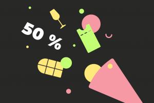 У «Бумаги» день рождения! В честь праздника — скидка 50 % на рассылки о вине, петербургских домах и культуре 🎊