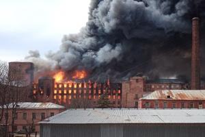 «РИА Новости»: возможная причина пожара на «Невской мануфактуре» — поджог