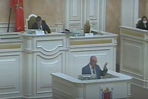 В Заксе обсудили полицейское насилие на митинге 21 апреля. Резник спросил, «какой дурак устроил избиение», Макаров поддержал силовиков