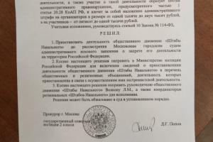 Деятельность штабов Навального в России приостановлена. В суде говорят, что еще рассмотрят требование приостановить работу ФБК