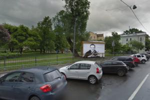 Стрит-арт с Навальным в Пушкарском саду восстановили — правда, виртуально