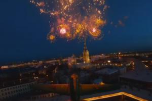 Петербуржец снял салют с дрона. Посмотрите, как выглядело празднование 9 мая с воздуха 🎆