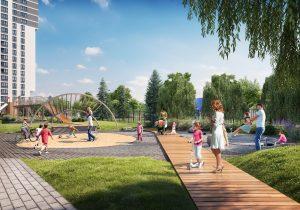 В Приморском районе появится детская площадка Richter Spielgeraete. Там можно управлять ручьем с помощью дамб и даже захватить башню-замок 🏰